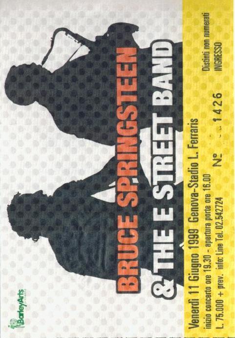 di Bruce Springsteen in Italia 1985-2013 | Pink Cadillac Music