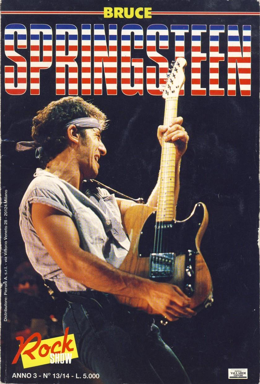 """BRUCE SPRINGSTEEN; 1988, Fratelli Vallardi Editori, Milano, Collana """"Rock Show"""", Anno 3 Numero 13/14"""