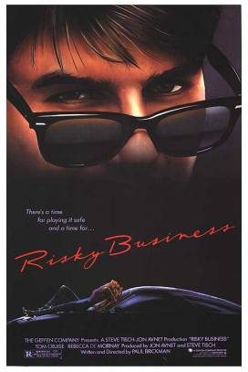 "3. ""Risky Business"" (Riscky Business -Fuori i vecchi… i figli ballano) con Hungry HeartRegia di Paul Brickman, USA 1983"