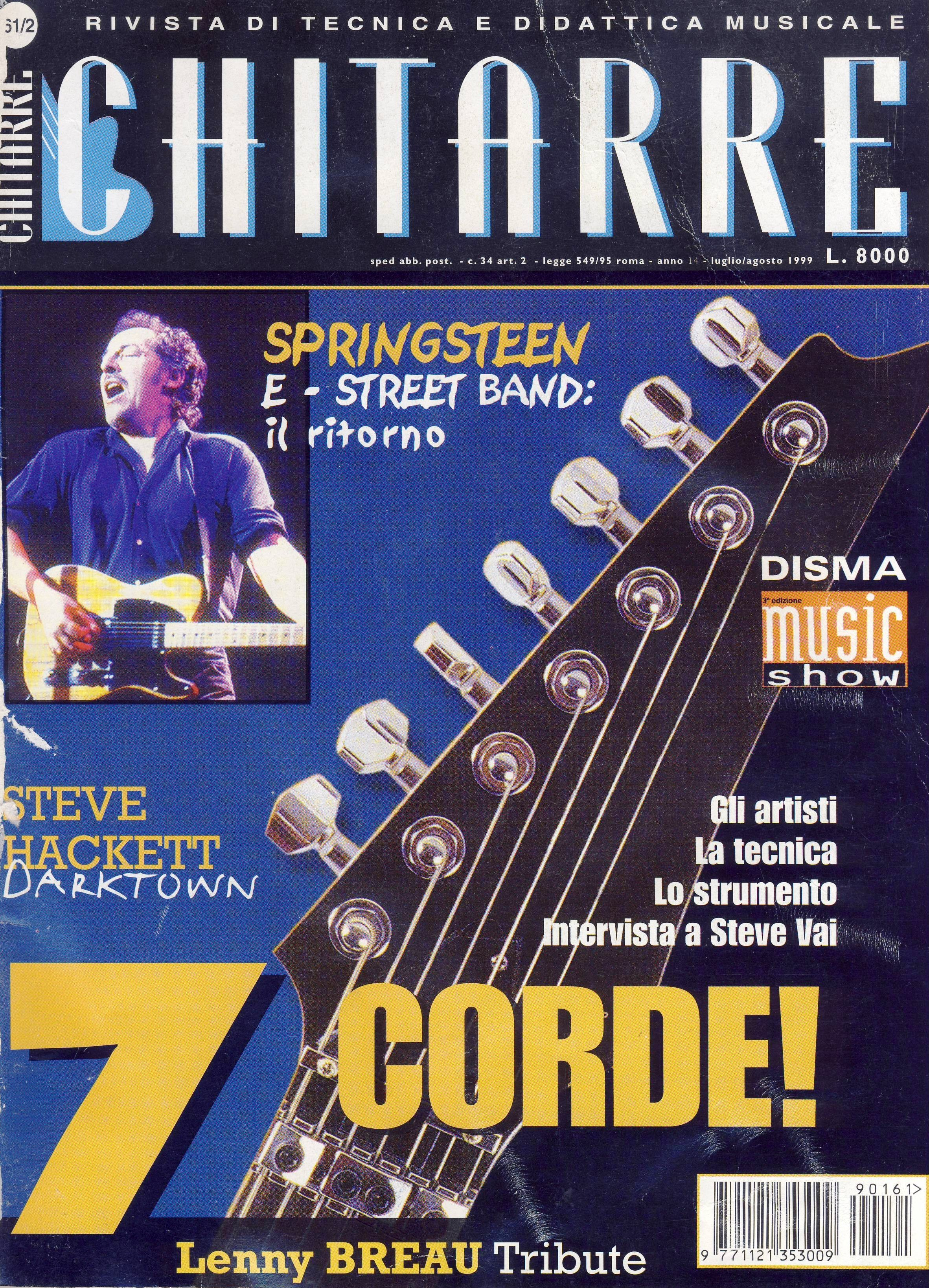 Bruce springsteen italian magazines collection chitarre for Chitarre magazine