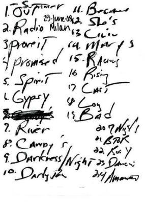 Setlist 06.25.08