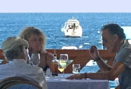 Bruce al ristorante Lo Scoglio di Nerano (Massalubrense)