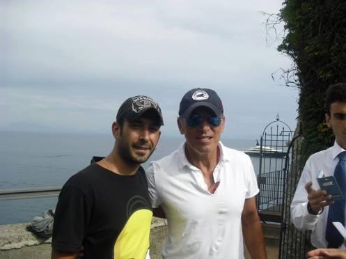 Bruce ad Amalfi con il nostro amico Paco