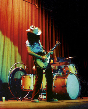 Jimmy Page on stage with Led Zeppelin at the Convention Hall, Asbury Park, New Jersey on August 16, 1969.