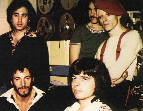 Springsteen e David Bowie ai Sigma Sound Studios il 25 novembre 1974.