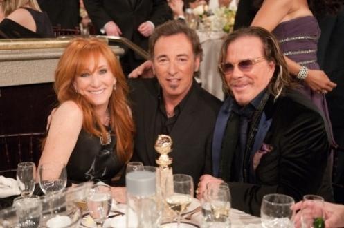 Bruce, con Patti e Mickey Rourke alla cerimonia del Golden Globe