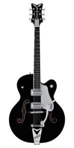 Gretsch Brian Setzer Black Phoenix - Black with Silver Trim