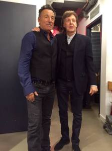 Backstage con Paul McCartney prima dello show