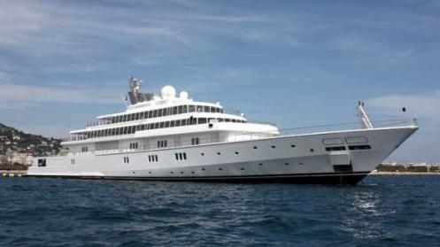 Il Rising Sun, mega yacht Rising Sun del produttore statunitense David Geffen