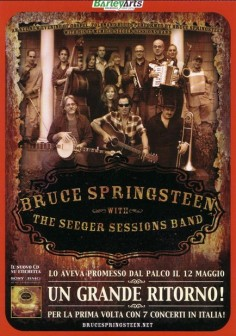 B. Springsteen with The Seeger Sessions Band - ITALIAN LAND - Q&S Production_front