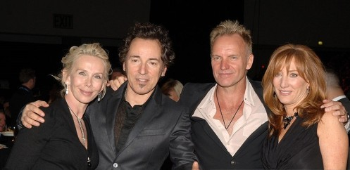 Trudie Styler, Bruce Springsteen, Sting and Patti Scialfa